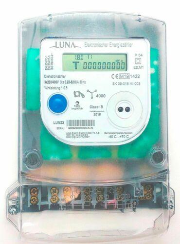 A Luna Drehstromzähler LUN23 60 3-Punkt  MID geeicht Neu OVP ! 5