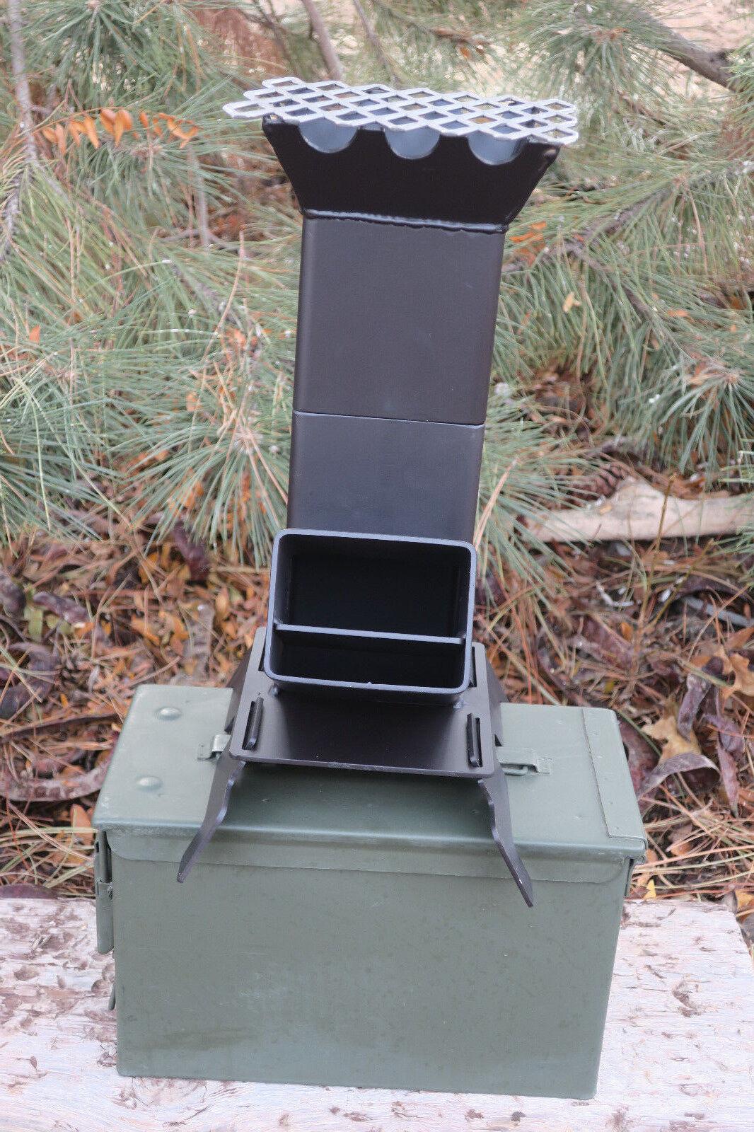 Estufa cohete Sadrac V2 portátil con un nuevo 50 Cal. nuevo diseño más grande de munición puede