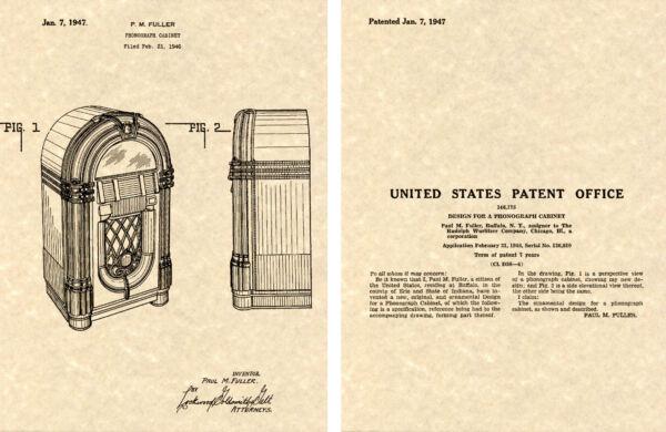 Accurato Wurlitzer 1015 Jukebox 1947 Us Vernice Stampa Pronto Per Telaio Paul Più Pieno Per Cancellare Il Fastidio E Per Estinguere La Sete