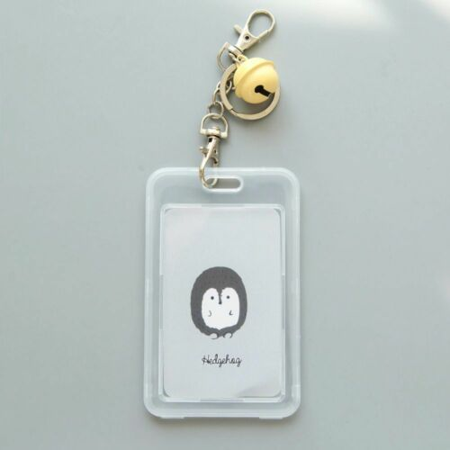 Usefrl Cartoon ID Card Case Key Holder Ring  Keychain Card Bag With Bell