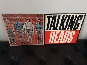 TALKING-HEADS-LP-LOT-2-SONG-BUILDING-FOOD-TRUE-ROCK-POP-VINYL-RECORD-ALBUM-BYRNE