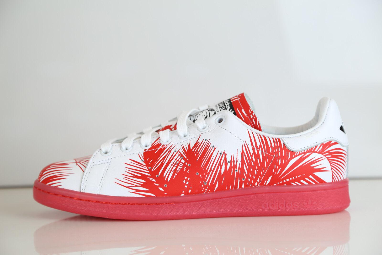 Adidas PW BBC Pharrell Williams Billionaire Boys Stan Smith Palm Red S82072 8-12
