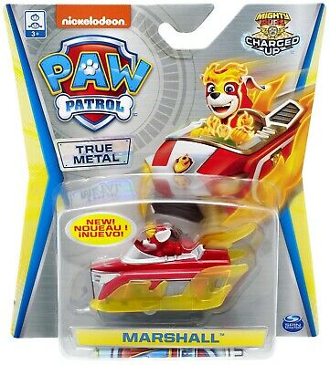 Paw Patrol Mighty Pups Charged Up True Metal Marshall Diecast Car 778988290880 Ebay