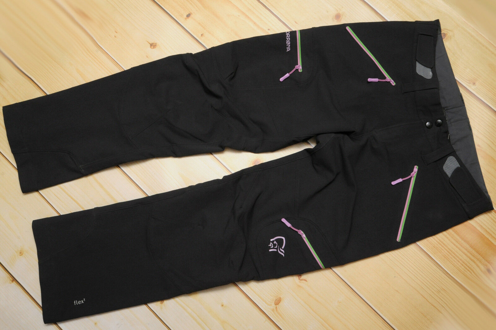 NORRONA SVALBARD FLEX1 CAVIAR - SOFTSHELL windproof WOMEN'S OUTDOOR PANTS - L