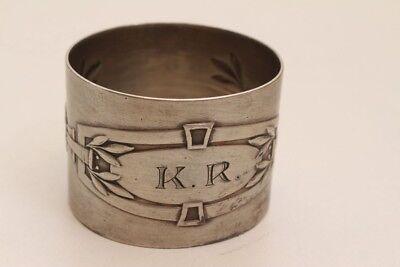 Sinnvoll Antiker Serviettenring Silberring Silber 800 Monogramm K.r.