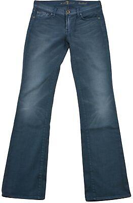 7 For All Mankind Donne Jeans Bootcut Fit Taglia 27 Blu Grigio Lavaggio Leggero Chiusura Zip-mostra Il Titolo Originale Crease-Resistenza