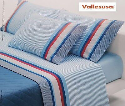 Klug Vallesusa 2,5 Plätze HüBsch Und Bunt Hochzeits- Set Bett Maxi Verve Blätter Baumwolle