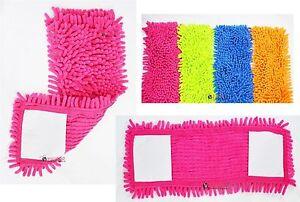 2-x-Microfaser-Wischmopp-Koepfe-Refill-Ersatz-Tuch-Staub-Reinigungs-Pad-Waschbar