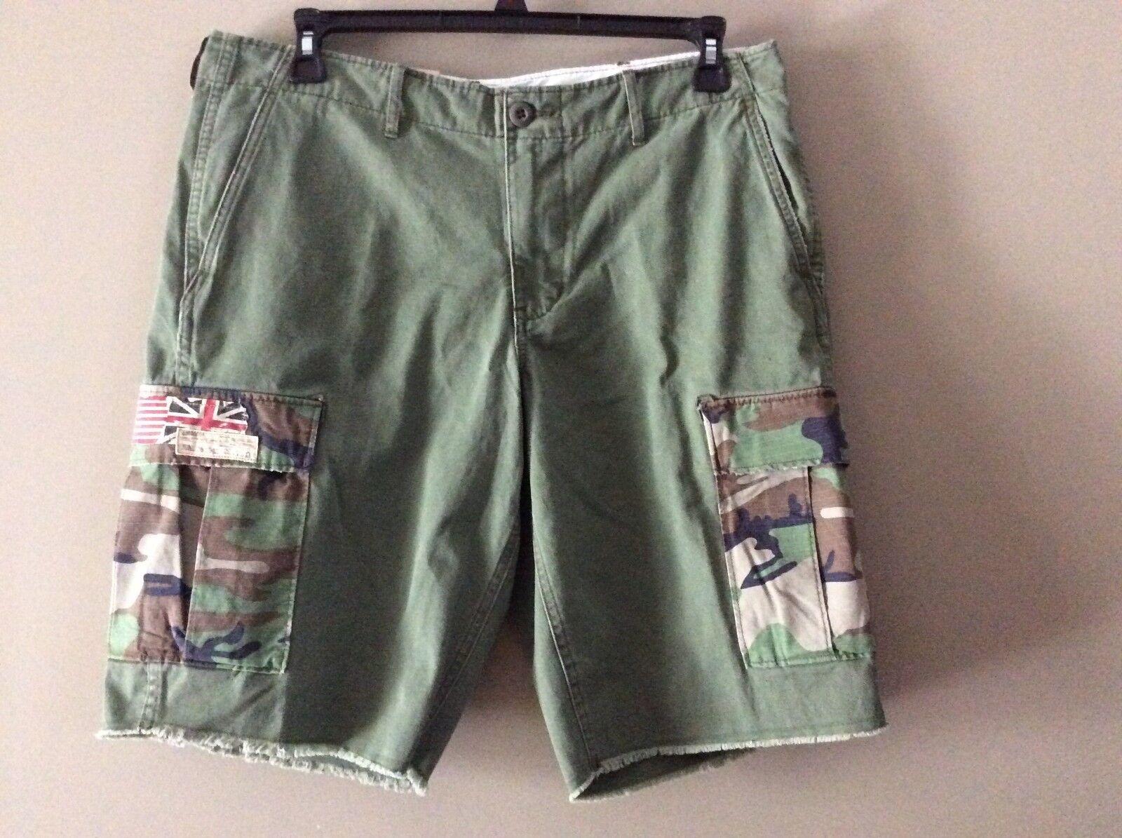 ac39ae9f0efab2   Supply Lauren Cutoff Army Olive Cargo Shorts Denim Ralph ...