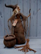 Primitive CASTING SPELLS Halloween WITCH Doll Pattern