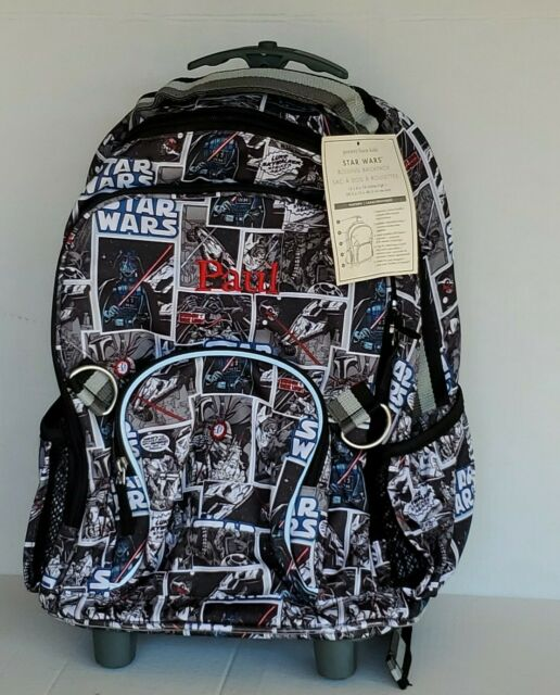 Pottery Barn Kids Star Wars Darth Vader Rolling Backpack