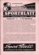 11.09.1985 Heider SV - 1. FC Nürnberg