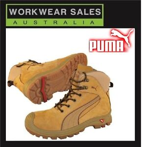Image is loading Puma-steelcap-Safety-Nullarbor-Wheat-Zip-Side-Workboots- dc390bc5a