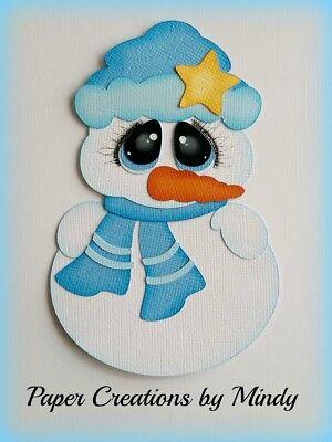 Scrapbook /& Card Making 2 Snowman Premade PAPER Die Cuts