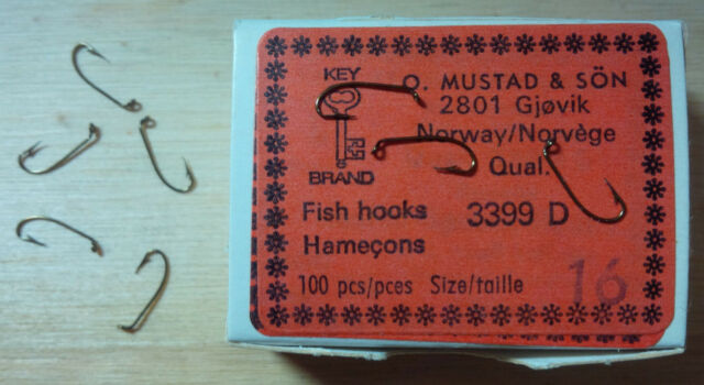 TMC 100 taille 18 100 Tiemco Dry Fly Hooks fly tying