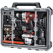 NEW Pro Matrix 6 Tool Combo Kit Set Case Powerful Motor Drill Home Black&Decker
