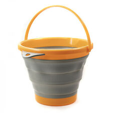 Asr Outdoor Collapsible Silicone 10 Liter Gold Panning Water Bucket Container