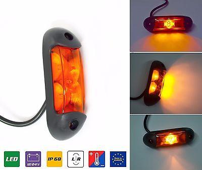 Blanc DEL Lampe Contour limitation Luminaire Lampe Position e9 camions voitures remorques