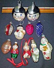 Vintage Antique Blown Glass Christmas Ornaments Shiny Bright