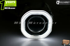 MXS Universal Bike Motorcycle Headlight HID BI-XENON CREE Ring Square Projector