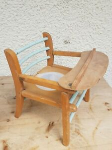 Old-Antique-Vintage-Small-Childs-Potty-toilet-training-Chair