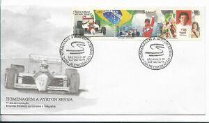 BRASIL BRAZIL YEAR 1994 FORMULA 1 AUTO RACING AYRTON SENNA HOMAGE FDC SPD