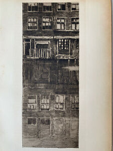 Albert baertsoen engraving water strong etching reflections architecture