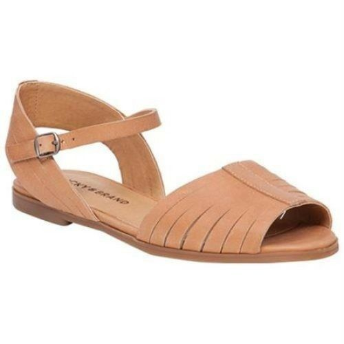 Lucky Brand Flats Channing Clay Leather Sandals Shoes Flats Brand Women's Sizes, preowned 20332c