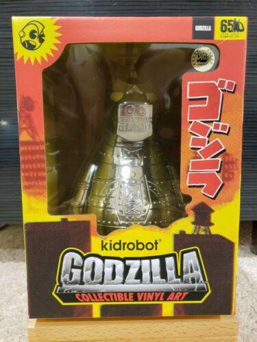 "San Diego comic-con 2019 Kidrobot MECHA GODZILLA 8/"" Vinyl Art Figure Chrome Électroplaqué Limited Edition 500"