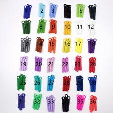 1040 Pcspack Dental Orthodontic Ligature Ties Elastic Rubber Bands 37 Colors