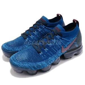 Nike Air Vapormax Flyknit 2 II Gym Blue Navy Men Running Shoe ... 5f846a48c