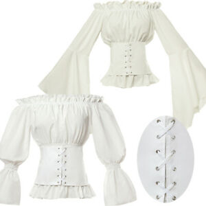 Renaissance-Retro-Victorian-Blouse-Tops-White-Shirt-Medieval-Gothic-Lolita-Shirt