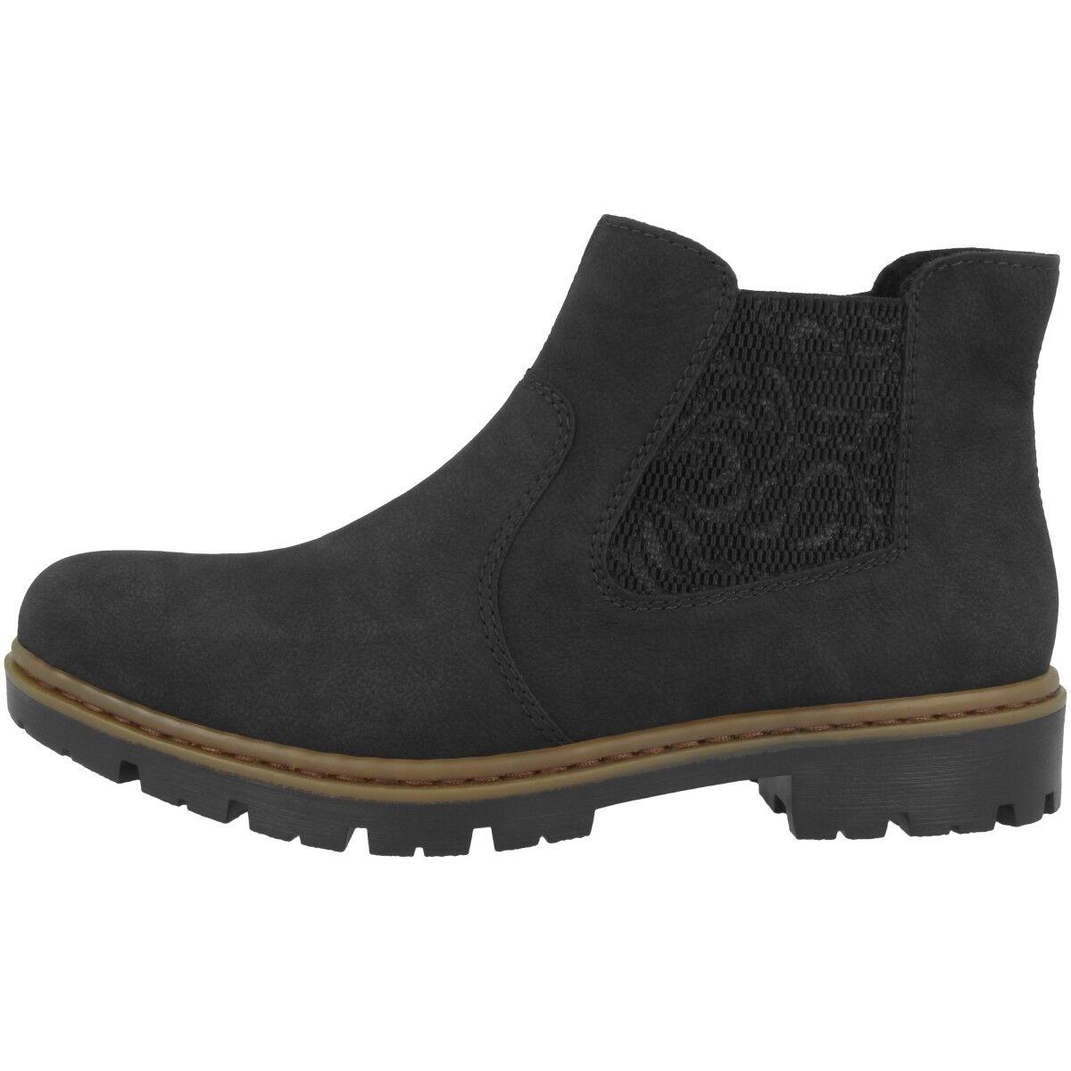 Rieker Nablus-Embossweaving Schuhe Antistress Stiefelette Chelsea Stiefel 71364-00