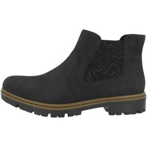 RIEKER-nablus-embossweaving-Chaussures-anti-stress-Bottines-chelsea-boots-bottes