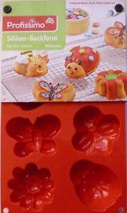 Silikon Backform 8tlg Biene Kafer Schmetterling Blume Fur Kinder