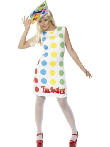 Mens Ladies 1980s Licensed Twister Fancy Dress Costume Novelty Stag 80/'s New