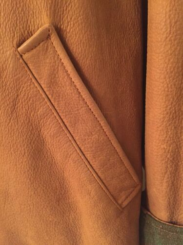 ~wm Leather Button Med ~coat Front~lined~jacket Suede Harold's~lush Soft ngqfwx67