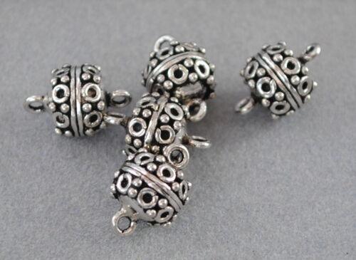 925 Silber Zwischenteile DIY Vintage Schmuck Spacer Perlen Charms Altsilber