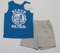 Babies R Us 2 Pc Tank Top & Shorts Set beach Patrol Baby Infant Boys 12 M