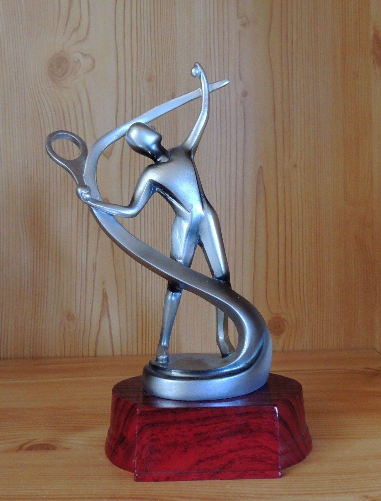 1 Pokal Design Figur Tennis Tennis Tennis 23cm (Doppel Sieger Wanderpokal Turnier Medaillen) 661b94