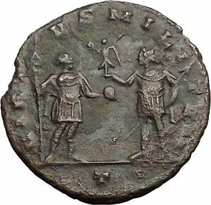 AURELIAN-with-globe-272AD-Rare-Authentic-Ancient-Roman-Coin-Soldier-i57426