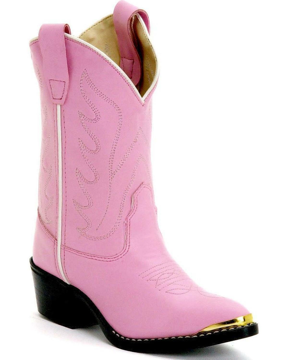 OLD  WEST YOUTH GIRLS PINK WESTERN COWBOY BOOTS SIZES 11, 12, 12.5, 1.5, 2.0, NEW  outlet