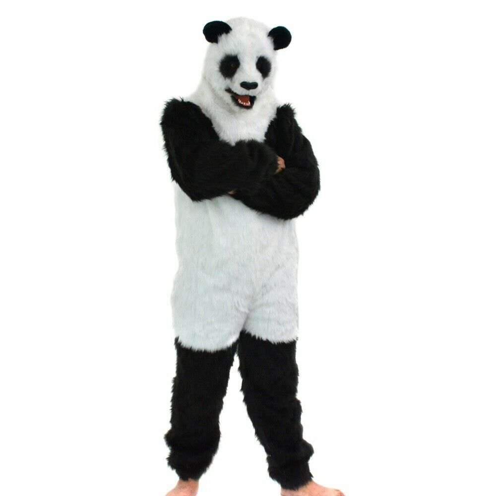 Fursuit Panda details about can move mouth panda mascot costume fursuit cosplay animal  halloween fancy dress