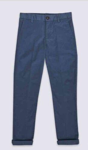 12-18 mois entièrement doublée Bébé Garçons Pantalon Cargo en Coton Bleu Nouveau m/&s Âge 6-9