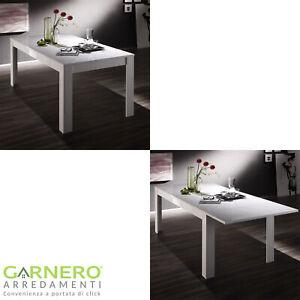 Tavolo Bianco Laccato Lucido.Dettagli Su Tavolo Da Pranzo Amalfi Fisso O Allungabile Bianco Laccato Lucido Soggiorno Sala