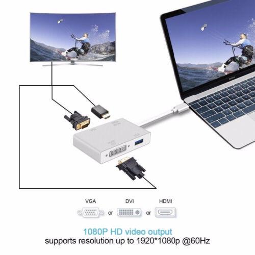DVI USB-C to HDMI VGA External Graphics Video Card Adapter USB 3.0 4K x 2K