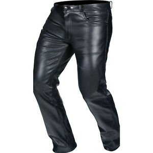 28df6a08 Details about Buffalo Classic Ladies Leather Motorcycle Jeans Womens Bike  Riding Pants Black