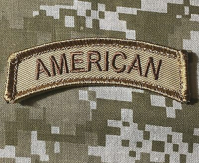 AMERICAN TAB US ARMY USA ISAF DESERT VELCRO® BRAND FASTENER MORALE PATCH