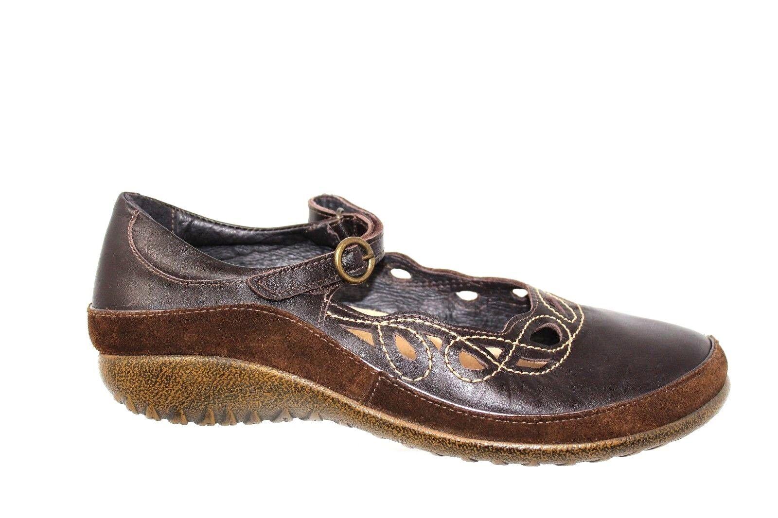 fabbrica diretta Naot Rahina Cut Out Marrone Leather Mary Jane scarpe scarpe scarpe Dimensione EU 40 US 9 9.5  ti renderà soddisfatto