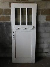 Antique Craftsman Style Entry Door - 1910 Three Pane Fir Architectural Salvage